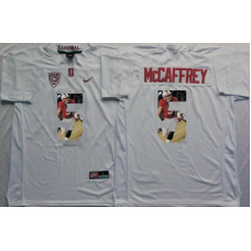 2016 NCAA Stanford Cardinals 5 Mccaffrey White Fashion Edition Jerseys