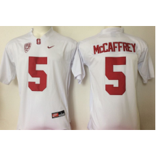 2016 NCAA Stanford Cardinals 5 Mccafrey White Jerseys