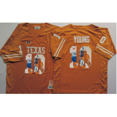 2016 NCAA Texas Longhorns 10 Young Yellow Fashion Edition Jerseys