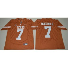 2016 NCAA Texas Longhorns 7 Shane Buechele Burnt Orange College Football Limited Jersey