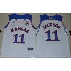 2016 Youth NCAA Kansas Jayhawks 11 Josh Jackson White College Basketball Authentic Jersey