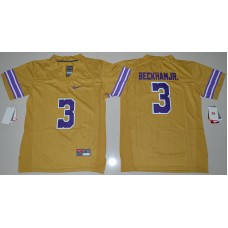 2016 Youth NCAA LSU Tigers 3 Odell Beckham Jr. Gold College Football Limited Throwback Legand Jersey