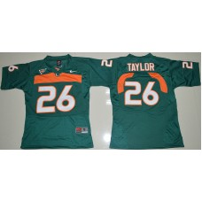2016 Youth NCAA Miami Hurricanes 26 Sean Taylor Green College Football Jersey