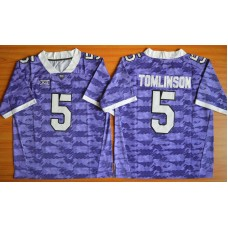 NCAA TCU Horned Frogs 5 LaDainian Tomlinson purple 2015 Football Jersey.
