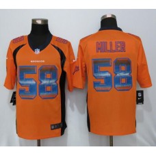 2016 Denver Broncos 58 Miller Orange Strobe New Nike Limited Jersey
