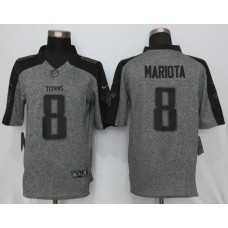 2016 Nike Tennessee Titans 8 Mariota Gray Men's Stitched Gridiron Gray Limited Jersey