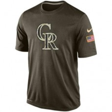 2016 Mens Colorado Rockies Salute To Service Nike Dri-FIT T-Shirt