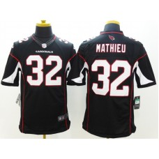 Arizona Cardicals 32 Mathieu Black Nike Limited Jerseys