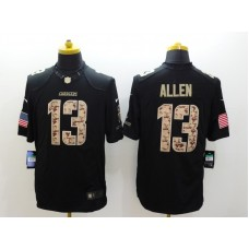 Los Angeles Chargers 13 Allen Black Nike Salute TO Service Jerseys