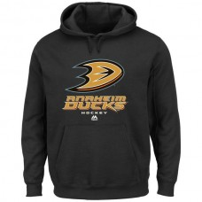 2016 NHL Anaheim Ducks Majestic Big Tall Critical Victory Pullover Hoodie - Black