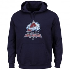 2016 NHL Colorado Avalanche Majestic Big Tall Critical Victory Pullover Hoodie - Navy Blue