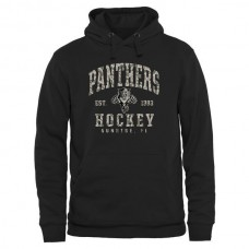 2016 NHL Mens Florida Panthers Black Camo Stack Pullover Hoodie