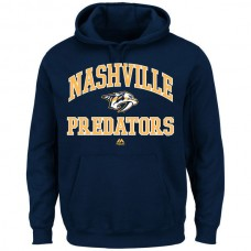 2016 NHL Nashville Predators Majestic Heart  Soul Hoodie - Navy Blue