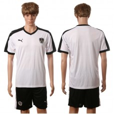 European Cup 2016 Austria away blank white soccer jerseys