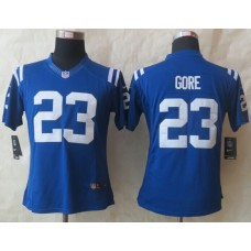 Womens Indianapolis Colts 23 Gore Blue New Nike Elite Jerseys