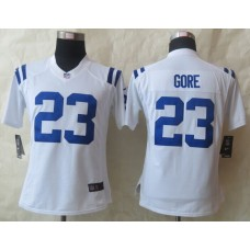 Womens Indianapolis Colts 23 Gore White New Nike Limited Jerseys