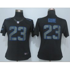Womens Indianapolis Colts 23 Gore Impact Limited Black New 2015 Nike Jersey